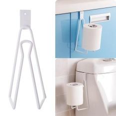 Over Door Paper Towel Holder Roll Paper Rack Metal Organizer Triangle Shape - intl