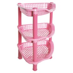 Kualitas Owl Clara Rak Segi Tiga Susun 3 37X23X23 Cm Pink Owl