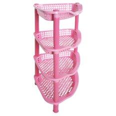 Owl Clara Rak Segi Tiga Susun 4 - 52x23x23 cm - Pink