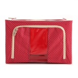 Jual Oxford Box Steel Frame Fabrics Foldable Storage Box 66 L Polkadot Merah Oxford Box Murah