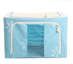 Katalog Oxford Box Steel Frame Oxford Fabrics Foldable Storage Box 66L Sun Flower Biru Terbaru