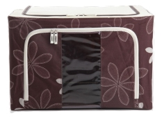 Jual Oxford Box Steel Frame Oxford Fabrics Foldable Storage Box 66L Sun Flower Coffee Oxford Box Online