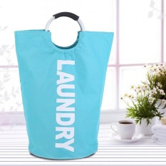 Oxford Dapat Dilipat Laundry Pakaian Keranjang Penyimpanan dengan Alloy Handle Home Organizer Tas Pencuci-Intl