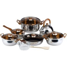 Oxone Eco Cookware Set 12+2 Pcs Ox-933 By Utama Electronic.