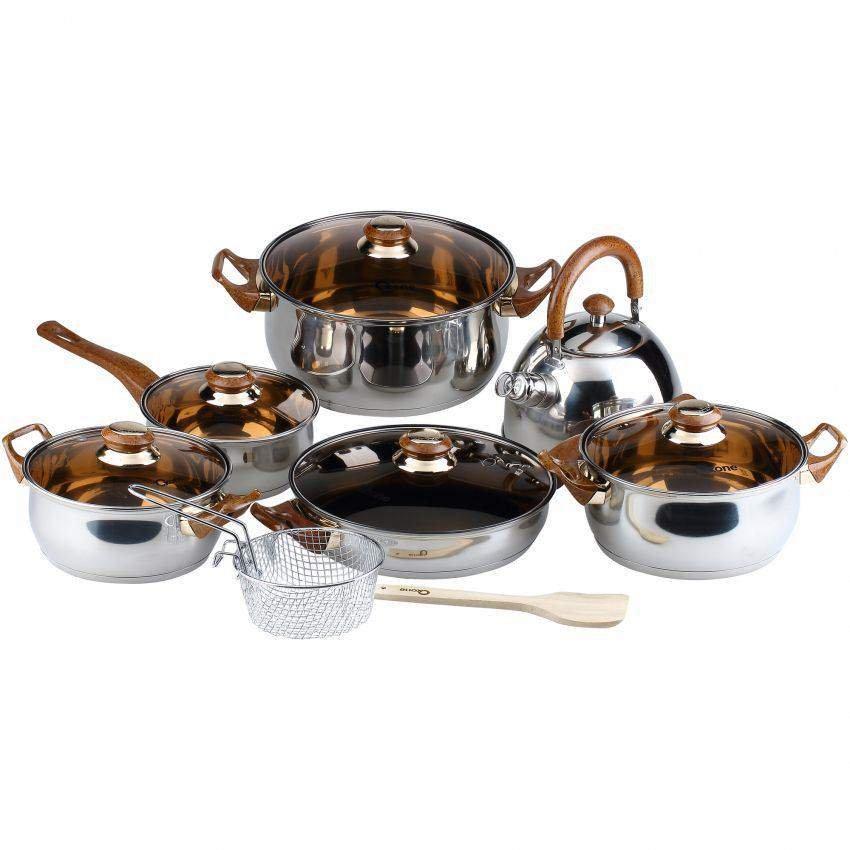 Design Mewah OXONE Eco Cookware Set 12+2 Pcs OX-933