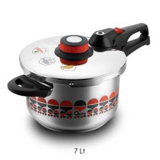Jual Oxone Ox 1070 Presto Motif Pressure Cooker 7Lt Satu Set