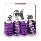 Harga Oxone Ox 5100 24Pcs Cube Cutlery Set Ungu New