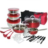 Beli Oxone Ox 993 33Pcs Panci Travel Cookware Set Online Terpercaya
