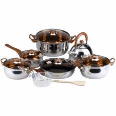 OXONE Panci Set Eco Cookware Stainless Steel 12+2 Pcs OX-933
