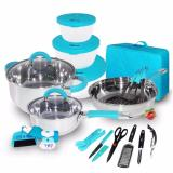 Harga Oxone Travel Kitchen Set 23 Pcs Ox 992 Biru Baru Murah
