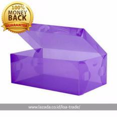 Jual Paket 10 Buah Kotak Sepatu Transparan Mulicolour Transparent Shoe Box Branded
