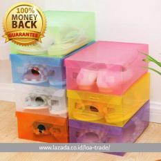 Promo Kotak Sepatu Transparan Paket 10Pcs Transparent Shoe Box Oem
