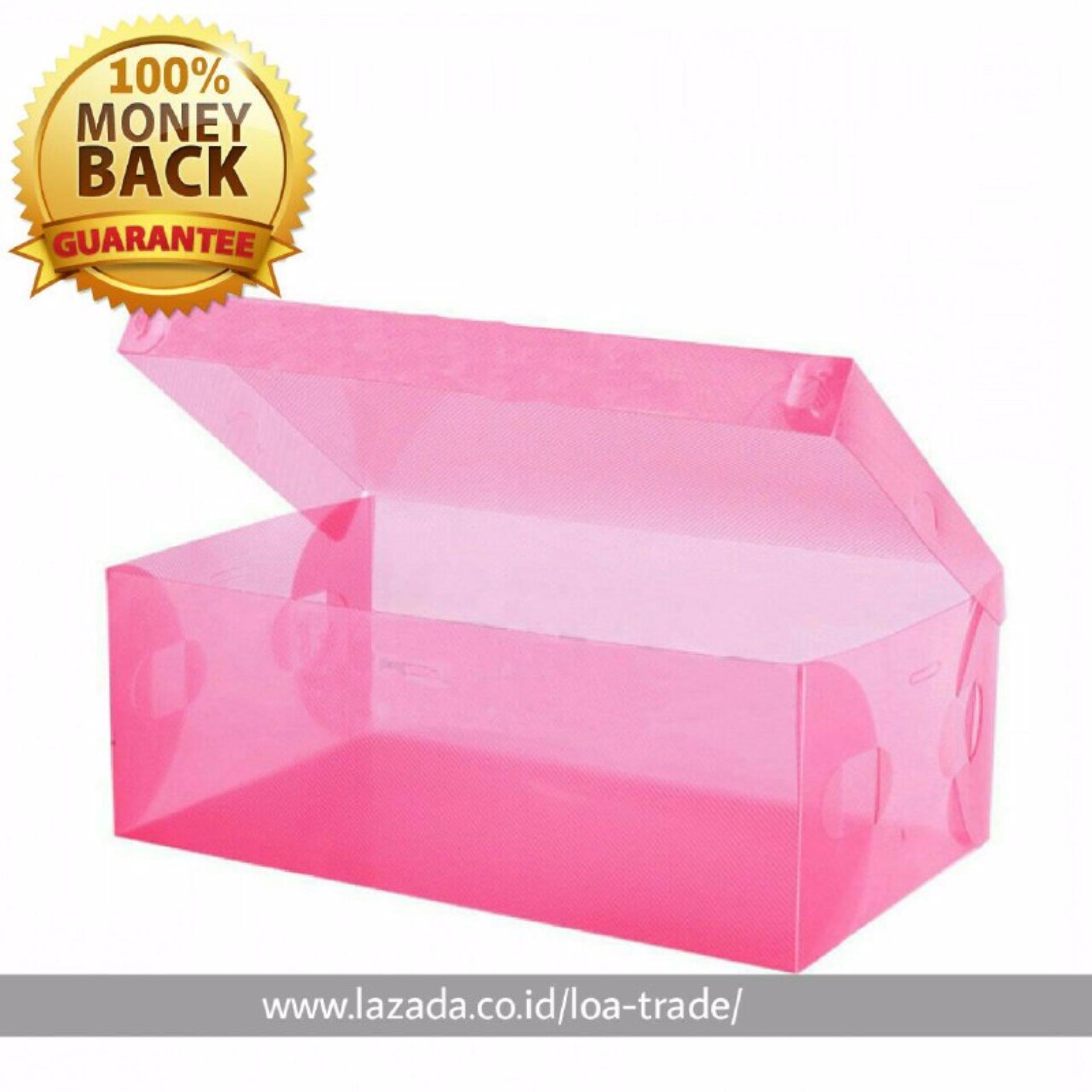 LOA - Kotak Sepatu Transparan 10Pcs Warna Warni   Penyimpanan Sepatu   Kotak  Sepatu Transparan   05f0a4dc2e