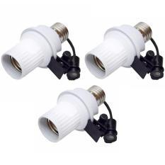 Paket 3 Buah Fitting Lampu Sensor Cahaya Otomatis - Putih