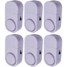 Pusatmurah Paket 6 Buah Alarm Pintu Anti Maling Kecil Door Entry Alarm - Putih