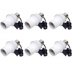 Paket 6 Buah Fitting Lampu Sensor Cahaya Otomatis - Putih