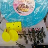 Diskon Dekorset Paket Alat Dekorasi 2 Kue Meja Putar Spuit Set Cake Lover Indonesia