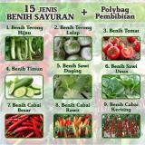 Toko Paket Benih Sayuran Eceran 15 Jenis Cabe Tomat Pepaya Dll Plus Polybag Online