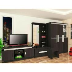 Paket Furniture Minimalis Lemari pakaian Meja rias Meja Tv Gratis Ongkir