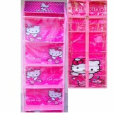 Beli Paket Hemat 2 In 1 Rak Gantung Rak Tas Dan Rak Jilbab Hbo Hjo Karakter Animasi Pink Berkualitas Nyicil