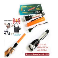 PAKET HEMAT Lebih Murah Untuk Keamanan Senter Setrum JL 1315 Gratis Gembok Alarm Anti Maling