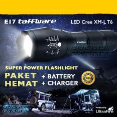 Jual Paket Hemat Senter Ultrafire Led Cree Xm L T6 2000 Lumens E17 Antik