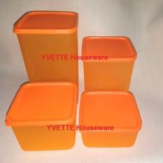 PAKET MURAH Toples Sealware Plastik Kedap Udara 4 PCS - Warna Orange