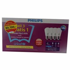 Beli Paket Philips Lampu Led 4 Watt Lengkap