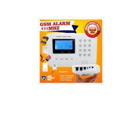 Paket Security ALARM GSM RUMAH GUDANG TOKO DLL With LCD Screen 433MHZ
