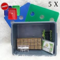 Paket Sistem Hidroponik Starter Kit 5 Bak 45 Holes Murah Free Nampan