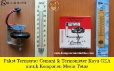 Paket Termostat Cemani & Termometer Kayu GEA - Komponen Mesin Tetas