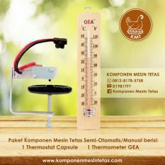 Paket Thermostat Capsule Cemani Dan Thermometer Kayu Gea Untuk Komponen Mesin Tetas Semi Otomatis