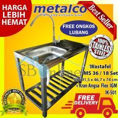 Harga Paket Wasbak Bak Cuci Piring Metalco Ms 36 18 Set Stainless Anti Karat Dan Kran Angsa Flex Tanam Metalco Online
