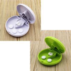 Jual Palight 2 Buah Pil Obat Penghancur Mesin Potong Kotak Penyimpanan Hijau Putih Tiongkok