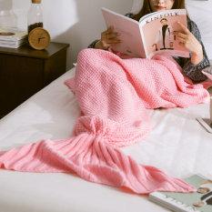 Beli Palight Ekor Putri Duyung Rajutan Buatan Tangan Selimut Berwarna Merah Muda L Pakai Kartu Kredit