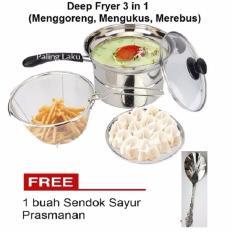 Promo Paling Laku Deep Fryer 22 Cm Multifungsi 3 In 1 Stainless Free Sendok Sayur Paling Laku Terbaru
