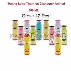 Rp 348.000. Paling Laku Grosir Termos Animal 12 pcs - Botol Minum Termos Karakter Animal Stainless Steel 500 ml ...