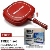 Harga Hemat Paling Laku Korean Double Pan 32 Cm Merah Free Fresh Bowl 3 In 1