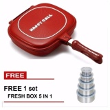Jual Paling Laku Korean Double Pan 32 Cm Merah Free Fresh Box 5 In 1 Branded Murah