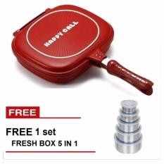 Jual Paling Laku Korean Double Pan 32 Cm Merah Free Fresh Box 5 In 1 Paling Laku Branded