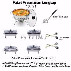 Paling Laku Paket Piring Prasmanan set Lengkap 10 in 1/ Fast Food Dish FREE sendok Sayur