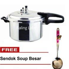 Paling Laku Panci Presto 10 Liter - Trisonic Preasure Cooker - 26 CM + FREE SENDOK SOUP BESAR