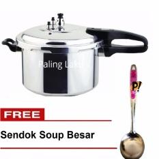 Paling Laku Panci Presto Trisonic Preasure Cooker - 8 L + FREE Sendok