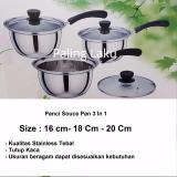 Beli Paling Laku Panci Souce Pan 3 In 1 Stainless Stell 16 Cm 18 Cm 20 Cm Nyicil