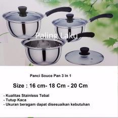 Review Pada Paling Laku Panci Souce Pan 3 In 1 Stainless Stell 16 Cm 18 Cm 20 Cm