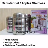 Harga Hemat Paling Laku Rosh Canister Set 3 In 1 Toples Stainless 3 In 1