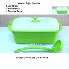 Paling Laku Wadah Saji Food Grade, Tahan Panas- Hijau By Paling Laku.