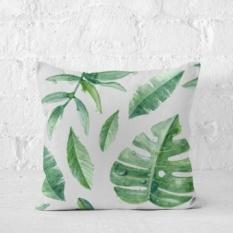 Palm Leaf Amerika Cushion Bantal Rumah Minimalis Ruang Tamu Sofa Bantal Tidak Mengandung Core Hijau Segar Bed Cushion-Intl