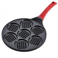 Pancake Pan Non-stick Multi-fungsi Sarapan Kue Waffle Wajan Telur Frying Pan Hemat Energi Blini Pan dengan 7-Cangkir-Internasional