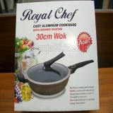 Harga Panci Aluminium Die Cast Royal Chef Wok 30Cm Fullset Murah